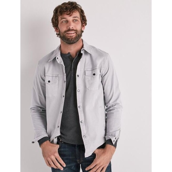 Lucky Brand Other - Lucky Brand Stretch Twill Shirt Jacket